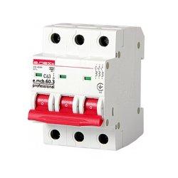 Трёхфазный автоматический выключатель 3р, 63А, C 6кА new, e.mcb.pro.60.3.C 63 new