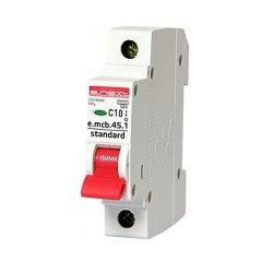 Однополюсный автоматический выключатель 1р, 10А, C, 4.5 кА, e.mcb.stand.45.1.C10