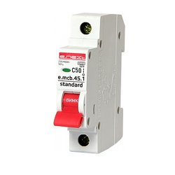 Однополюсный автоматический выключатель 1р, 50А, C, 3,0 кА, e.mcb.stand.45.1.C50
