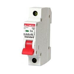 Однополюсный автоматический выключатель 1р, 6А, C, 4.5 кА, e.mcb.stand.45.1.C6