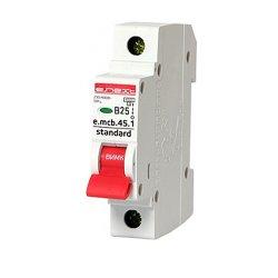 Однополюсный автоматический выключатель 1р, 25А, В, 4.5 кА, e.mcb.stand.45.1.B25