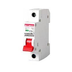 Однополюсный автоматический выключатель 1р, 16А, C, 6кА new, e.mcb.pro.60.1.C16 new