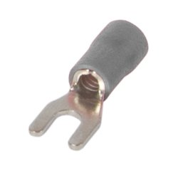 Наконечник кабельный вилочный изолированный 0.5-1.5 мм.кв., серый e.terminal.stand.sv.1,25.3,2.grey