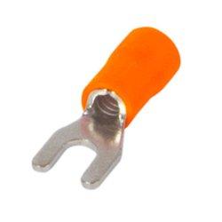 Наконечник кабельный вилочный изолированный 0.5-1.5 мм.кв., оранжевый e.terminal.stand.sv.1,25.3,2.orange
