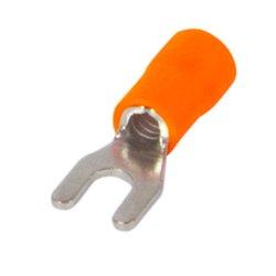 Наконечник кабельный вилочный изолированный 4-6 мм.кв., оранжевый e.terminal.stand.sv.5,5.6.orange