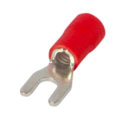 Наконечник кабельный вилочный изолированный 4-6 мм.кв., красный e.terminal.stand.sv.5.4.red