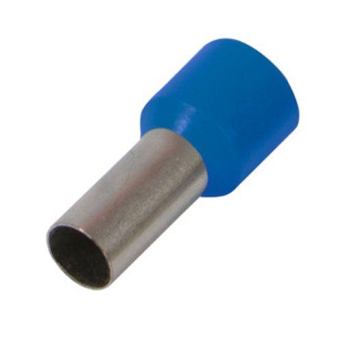 Фото Наконечник кабельный втулочный изолированный 0.5 мм.кв., синий e.terminal.stand.e0508.blue Электробаза