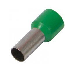 Наконечник кабельный втулочный изолированный 0.5 мм.кв., зеленый e.terminal.stand.e0508.green