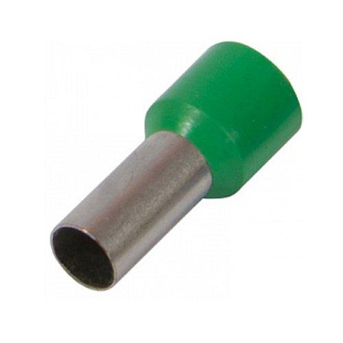 Фото Наконечник кабельный втулочный изолированный 0.5 мм.кв., зеленый e.terminal.stand.e0508.green Электробаза