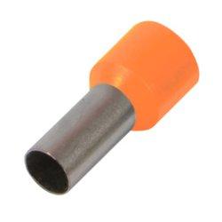 Наконечник кабельный втулочный изолированный 0.5 мм.кв., оранжевый e.terminal.stand.e0508.orange