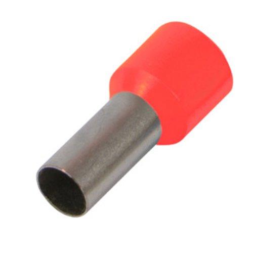 Фото Наконечник кабельный втулочный изолированный 0.5 мм.кв., красный e.terminal.stand.e0508.red Электробаза