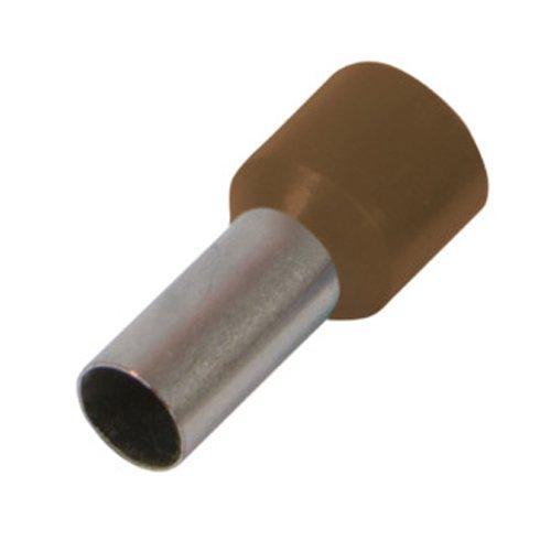 Фото Наконечник кабельный втулочный изолированный 10.0 мм.кв., коричневый e.terminal.stand.e10-12.brown Электробаза
