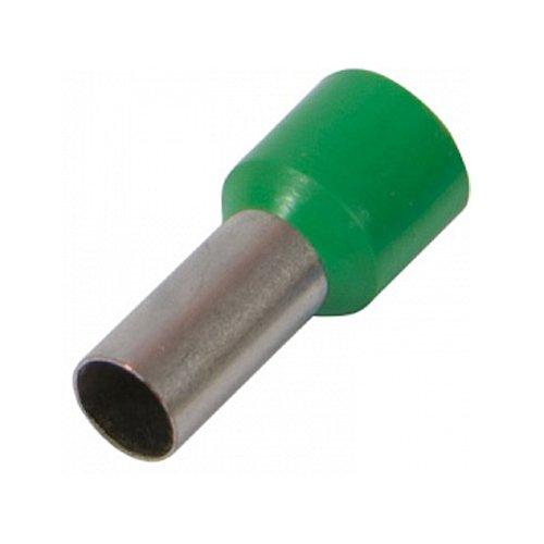 Фото Наконечник кабельный втулочный изолированный 10.0 мм.кв., зеленый e.terminal.stand.e10-12.green Электробаза