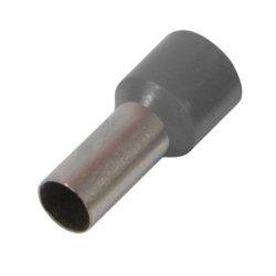Наконечник кабельный втулочный изолированный 10.0 мм.кв., серый e.terminal.stand.e10-12.grey
