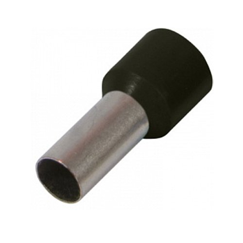 Фото Наконечник кабельный втулочный изолированный 1.0 мм.кв., черный e.terminal.stand.e1008.black Электробаза