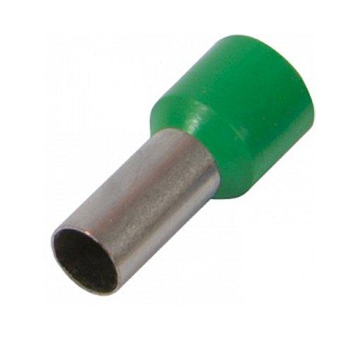Фото Наконечник кабельный втулочный изолированный 1.0 мм.кв., зеленый e.terminal.stand.e1008.green Электробаза