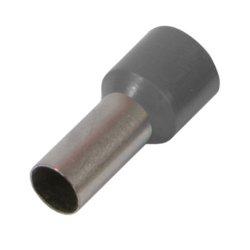 Наконечник кабельный втулочный изолированный 1.0 мм.кв., серый e.terminal.stand.e1008.grey
