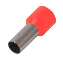 Наконечник кабельный втулочный изолированный 1.5 мм.кв., красный e.terminal.stand.e1508.red