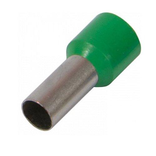 Фото Наконечник кабельный втулочный изолированный 2.5 мм.кв., зеленый e.terminal.stand.e2508.green Электробаза