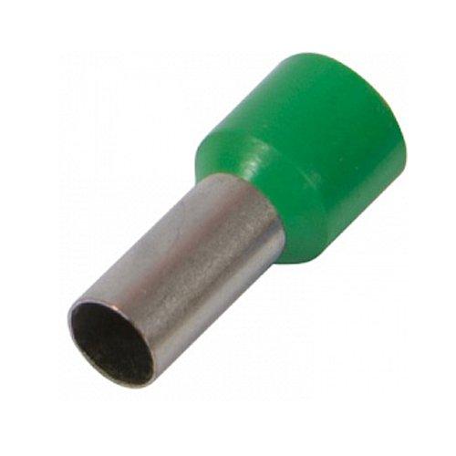 Фото Наконечник кабельный втулочный изолированный 0,75 мм.кв., штир 8 мм, зелёный e.terminal.stand.е7508.green Электробаза