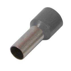 Наконечник кабельный втулочный изолированный 0.75 мм.кв., серый e.terminal.stand.e7508.grey