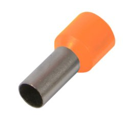 Наконечник кабельный втулочный изолированный 0.75 мм.кв., оранжевый e.terminal.stand.e7508.orange