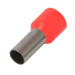 Наконечник кабельный втулочный изолированный 0.75 мм.кв., красный e.terminal.stand.e7508.red