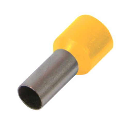 Фото Наконечник кабельный втулочный изолированный 0.75 мм.кв., желтый e.terminal.stand.e7508.yellow Электробаза