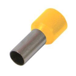 Наконечник кабельный втулочный изолированный 0,5 мм.кв., штир 8 мм, желтый e.terminal.stand.е0508.yellow