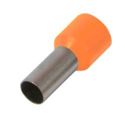 Наконечник кабельный втулочный изолированный 10.0 мм.кв., штир 12 мм, оранжевый e.terminal.stand.е1012.orange