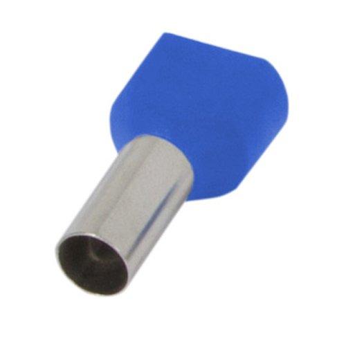 Фото Наконечник кабельный втулочный изолированный 2x0.75 мм.кв., голубой (TE7510 blue) e.terminal.stand.te.2.0.75.blue Электробаза