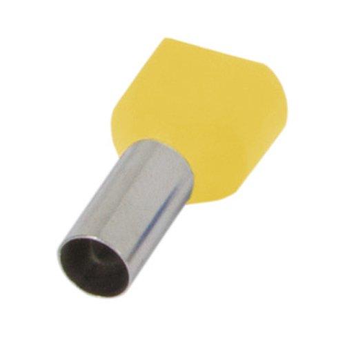 Фото Наконечник кабельный втулочный изолированный 2x1.5 мм.кв., желтый (TE1508 yellow) e.terminal.stand.te.2.1.5.yellow Электробаза