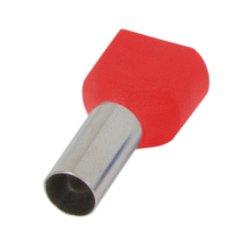 Наконечник кабельный втулочный изолированный 2x1 мм.кв., красный (TE1010 red) e.terminal.stand.te.2.1.red