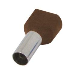 Наконечник кабельный втулочный изолированный 2x10 мм.кв., коричневый (TE10-14 brown) e.terminal.stand.te.2.10.brown