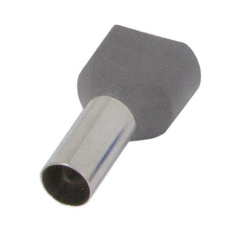 Фото Наконечник кабельный втулочный изолированный 2x16 мм.кв., серый e.terminal.stand.te.2.16.grey (TE16-14 grey) Электробаза