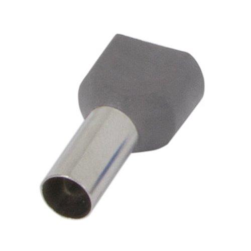 Фото Наконечник кабельный втулочный изолированный 2x2.5 мм.кв., серый (TE2513 grey) e.terminal.stand.te.2.2.5.grey Электробаза