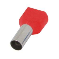 Наконечник кабельный втулочный изолированный 2x2.5 мм.кв., красный (TE2510 red) e.terminal.stand.te.2.2.5.red