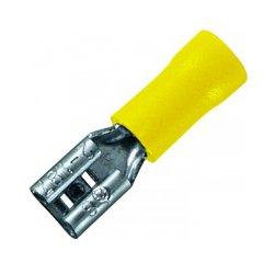 Наконечник кабельный соединительный изолированный 4-6 мм.кв.,желтый (мама) (dd.f.4.6) e.terminal.stand.fdd5.5.250