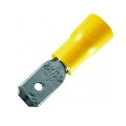 Наконечник кабельный соединительный изолированный 4-6 мм.кв., желтый (папа) (dd.m.4.6) e.terminal.stand.mdd5.5.250