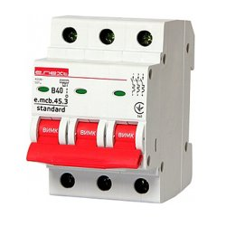 Трёхфазный автоматический выключатель 3р, 40А, В, 3,0 кА, e.mcb.stand.45.3.B40