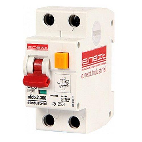 Фото Дифферинциальный автоматический выключатель 2р, 20А, С, 300мА e.industrial.elcb.2.C20.300 Электробаза