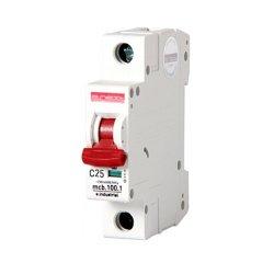 Однополюсный автоматический выключатель, 1 р, 25А, C, 10кА, e.industrial.mcb.100.1.C25