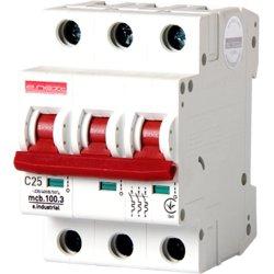 Трехполюсный автоматический выключатель, 3 р, 40А, C, 10кА e.industrial.mcb.100.3.C40