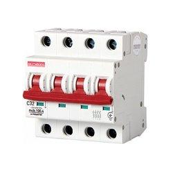 Четырёхполюсный автоматический выключатель, 4 р, 32А, C, 10кА, e.industrial.mcb.100.4.C32
