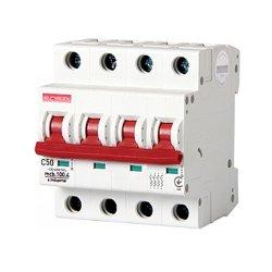 Четырёхполюсный автоматический выключатель, 4 р, 50А, C, 10кА, e.industrial.mcb.100.4.C50