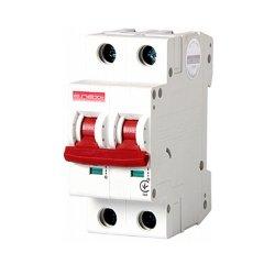 Двухполюсный автоматический выключатель, 1р+N, 20А, C, 10кА, e.industrial.mcb.100.1N.C20