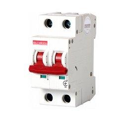 Двухполюсный автоматический выключатель, 1р+N, 32А, C, 10кА, e.industrial.mcb.100.1N.C32