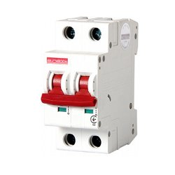 Двухполюсный автоматический выключатель, 1р+N, 63А, C, 10кА, e.industrial.mcb.100.1N.C63