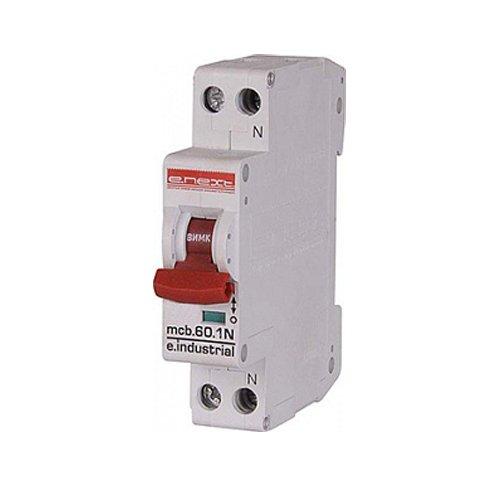 Фото Двухполюсный автоматический выключатель, 1р+N, 16А, C, 10кА, e.industrial.mcb.60.1N.C16.thin Электробаза
