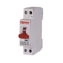 Двухполюсный автоматический выключатель, 1р+N, 25А, C, 10кА, e.industrial.mcb.60.1N.C25.thin